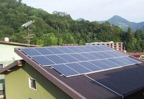 Taglia Impianto fotovoltaico: 6,00 Kwp Località: Lumezzane (BS) Moduli utilizzati: Trina 230wp Inverter utilizzati: Eaton