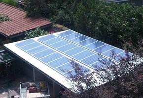 Taglia impianto fotovoltaico: 6 Kwp Località: Sant'Ambrogio(Torino) Moduli utilizzati: TRINA245wp Inverter utilizzati: Power One