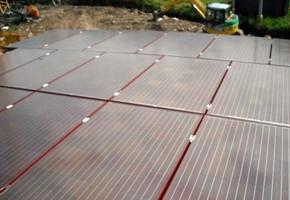 Taglia impianto fotovoltaico: 6 Kwp Località: Polpenazze dg (Brescia) Moduli utilizzati: BRANDONI 235wp Celle rosse Inverter utilizzati: Power One