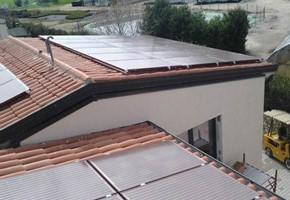Taglia impianto fotovoltaico: 12 Kwp Località: Polpenazze dg(Brescia) Moduli utilizzati: BRANDONI 235wp Celle Rosse Inverter utilizzati: Power One