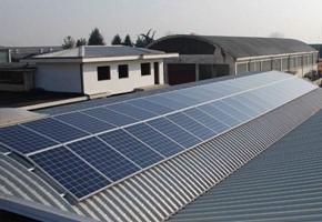 Taglia impianto fotovoltaico: 20 Kwp Località: Bruino (Torino) Moduli utilizzati: REC 235wp Inverter utilizzati: Power One