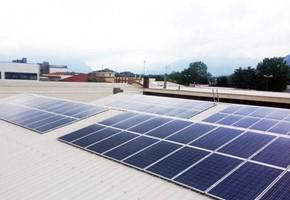 Taglia impianto fotovoltaico: 20 Kwp Località: Rosta (Torino) Moduli utilizzati: SOLON 285wp Inverter utilizzati: Power One